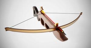 Vintage crossbow  on white background. 3D illustration.  Stock Photos