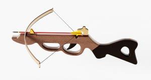 Vintage crossbow  on white background. 3D illustration.  Stock Photo