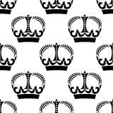Vintage crowns pattern in victorian style Stock Images