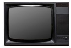Vintage CRT TV Royalty Free Stock Image
