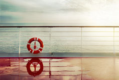 Vintage cruise deck background Stock Photo