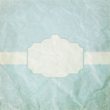 Vintage crumpled paper with frame Royalty Free Stock Images