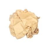 Vintage crumpled paper isolated on white Royalty Free Stock Photos