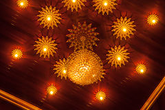 Vintage crystal ceiling light Stock Image