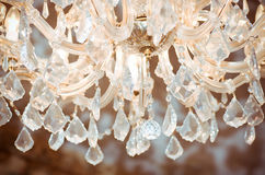 Vintage crystal lamp details Royalty Free Stock Photo