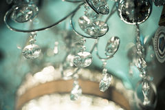 Vintage crystal lamp details Royalty Free Stock Photography