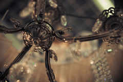 Vintage crystal lamp details Stock Photography