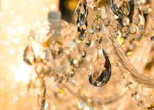 Vintage crystal lamp details Royalty Free Stock Image