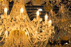 Vintage crystal lamp details Stock Images