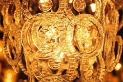 Vintage crystal lamp details Royalty Free Stock Images