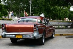 Vintage cuban car Royalty Free Stock Images
