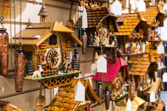 Vintage Cuckoo Clock at Lake Titisee Neustadt. Stock Image