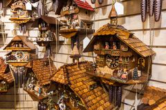Vintage Cuckoo Clock at Lake Titisee Neustadt. Vintage Cuckoo Clock at Lake Titisee Neustadt in the Black Forest. Germany stock photo