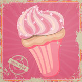 Vintage Cup Cake Sign Royalty Free Stock Images