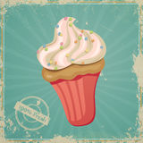 Vintage Cup Cake Sign Stock Photo