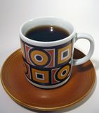 Vintage cup of coffee Royalty Free Stock Photos
