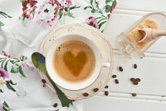 Vintage cup with coffee Stock Images