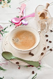 Vintage cup with coffee Royalty Free Stock Photography