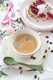 Vintage cup with coffee Stock Image