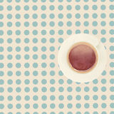 Vintage cup of coffee on the table Royalty Free Stock Image