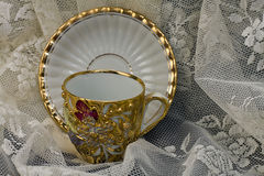 Vintage Cup/Saucer Royalty Free Stock Photo