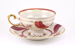 Vintage Cup and saucer. With gold decoration Stock Photography