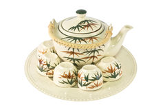 Vintage cup tea set Stock Photos