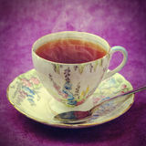 Vintage cup of tea Royalty Free Stock Photography