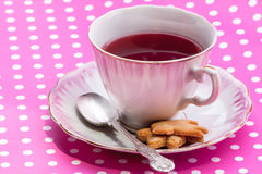 Vintage Cup With Tea Royalty Free Stock Image