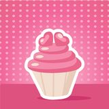 Vintage cupcake background Royalty Free Stock Photography
