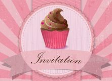 Vintage cupcake background Royalty Free Stock Image