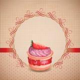 Vintage cupcake background Stock Photos