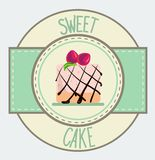Vintage cupcake poster design Royalty Free Stock Photos