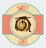 Vintage cupcake poster design Royalty Free Stock Images