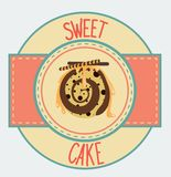 Vintage cupcake poster design Royalty Free Stock Photography