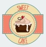Vintage cupcake poster design Stock Photos