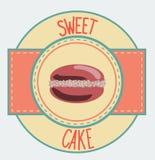 Vintage cupcake poster design Stock Photography