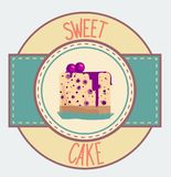 Vintage cupcake poster design Royalty Free Stock Photo