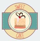 Vintage cupcake poster design Stock Image