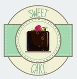 Vintage cupcake poster design Stock Photo