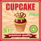 Vintage cupcake poster. Royalty Free Stock Images