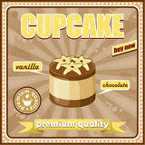 Vintage cupcake poster Royalty Free Stock Photos