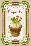 Vintage cupcake poster. Stock Images