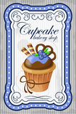 Vintage cupcake poster. Stock Photography