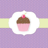 Vintage Cupcake Sticker Stock Photo