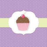 Vintage Cupcake Sticker Stock Photo