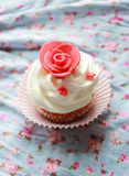 Vintage Cupcake on the window Stock Image