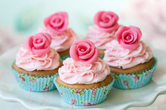 Vintage cupcakes Stock Photos