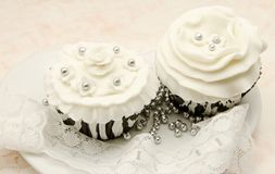 Vintage Cupcakes Stock Photography