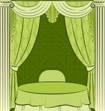 The vintage curtain. Stock Photo